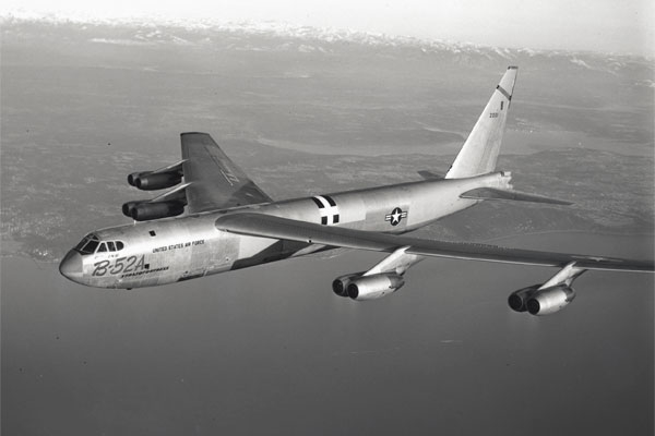 First flight of the B-52A