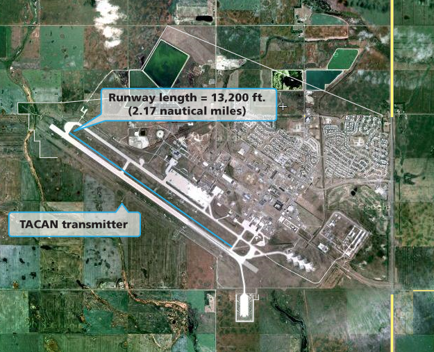 Aerial view of Minot AFB